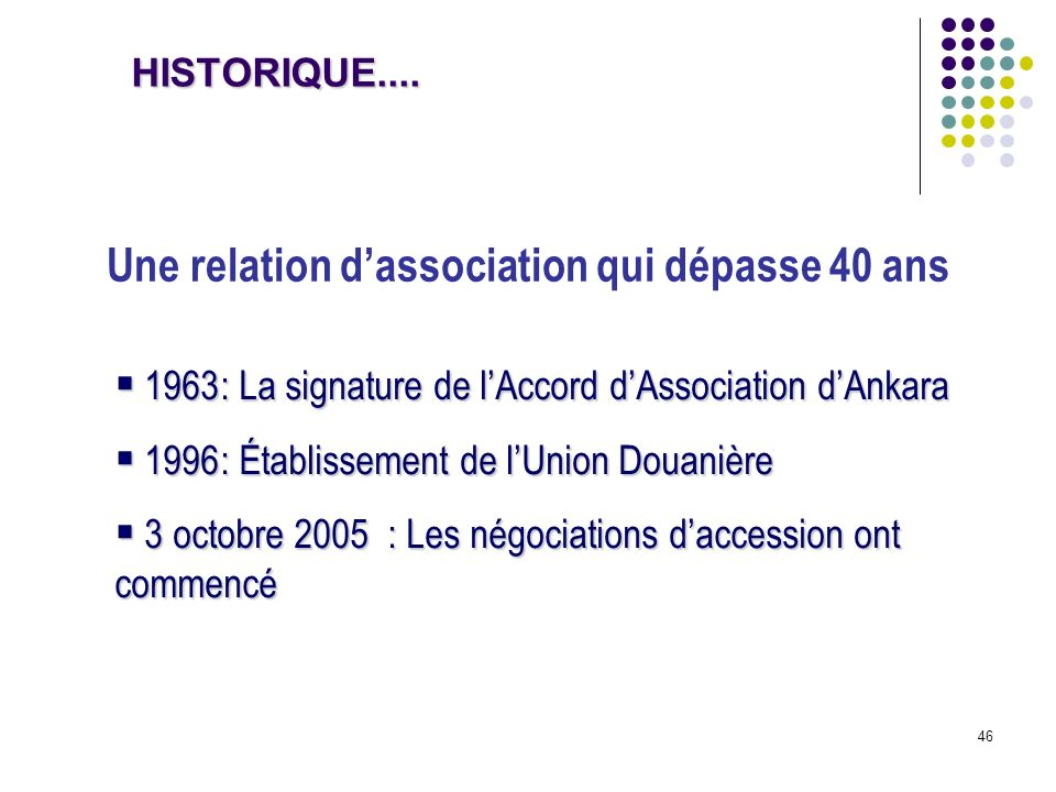 Une relation d'association qui dépasse 40 ans