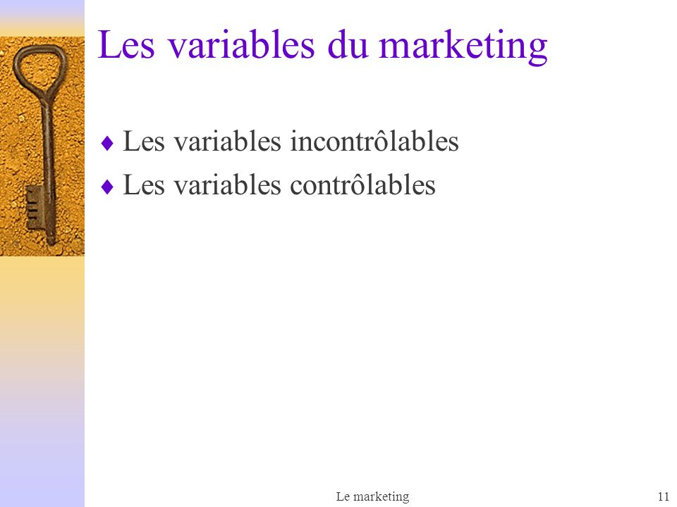Les variables du marketing