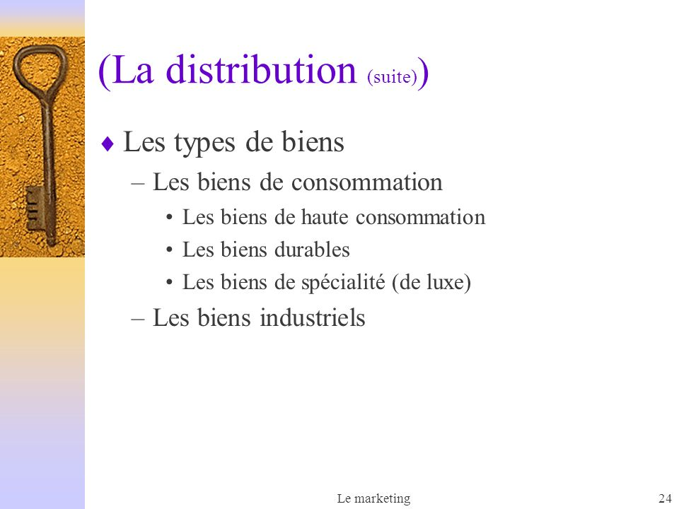 (La distribution (suite))