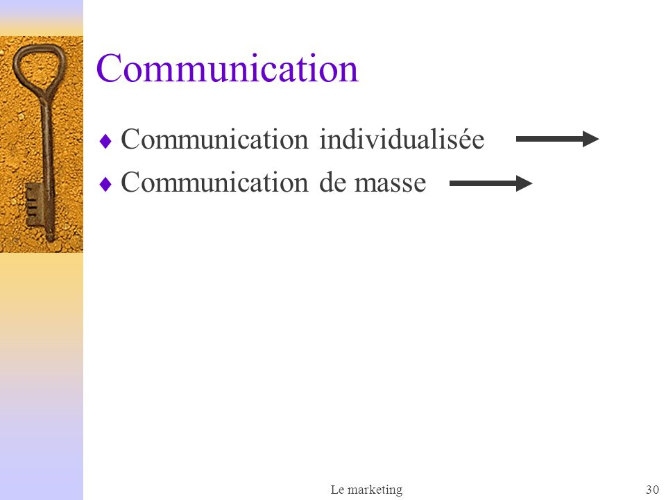 Communication Communication individualisée Communication de masse