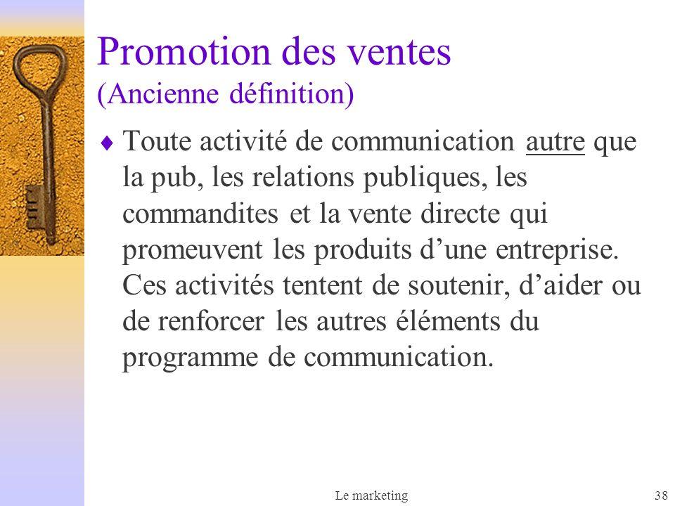Promotion des ventes (Ancienne définition)