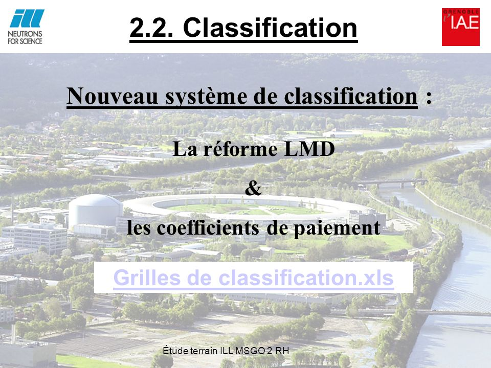 les coefficients de paiement Grilles de classification.xls