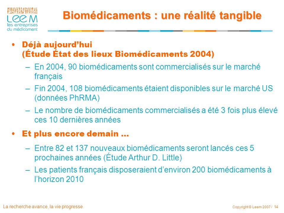 Biomédicaments : une réalité tangible