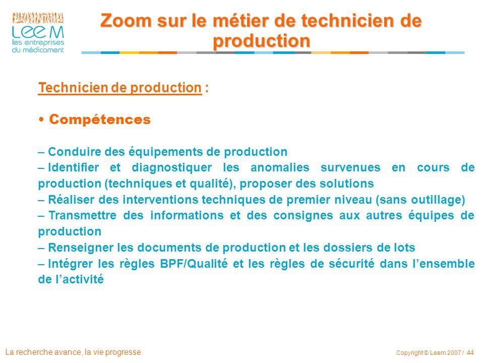 Zoom sur le métier de technicien de production