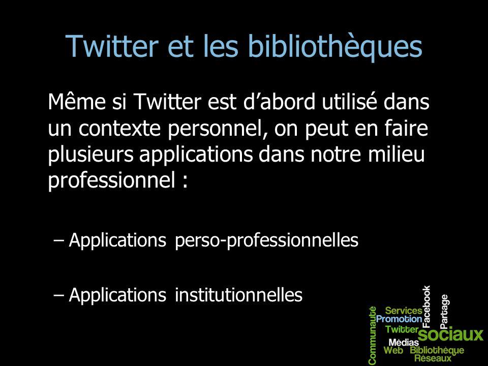 Twitter et les bibliothèques