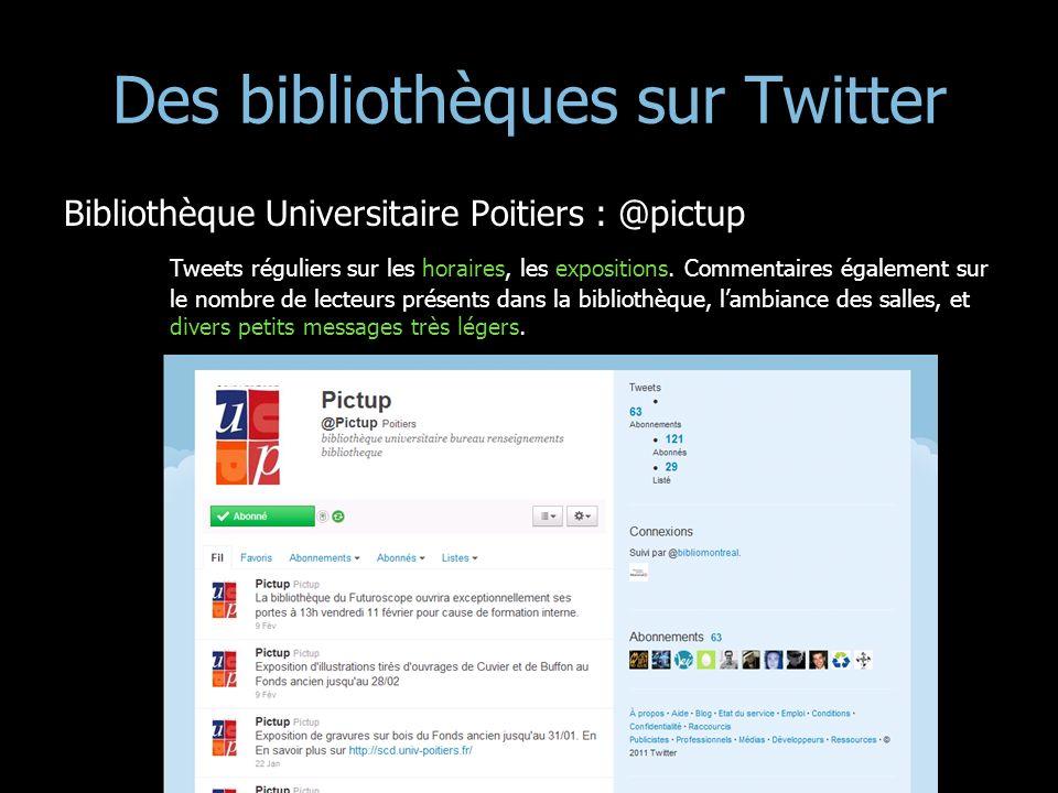 Des bibliothèques sur Twitter