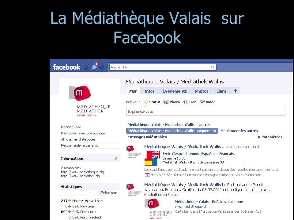 La Médiathèque Valais sur Facebook