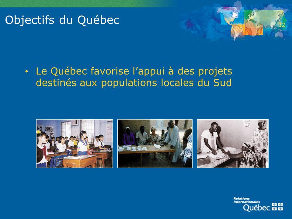 2 Objectifs du Québec. 32.