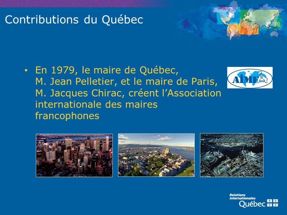 Contributions du Québec
