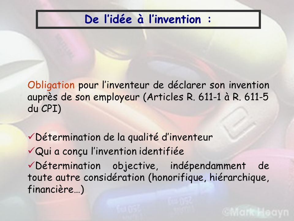 De l'idée à l'invention :
