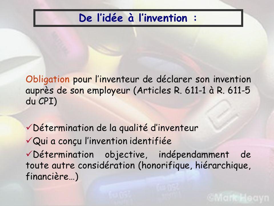 De l'idée à l'invention :