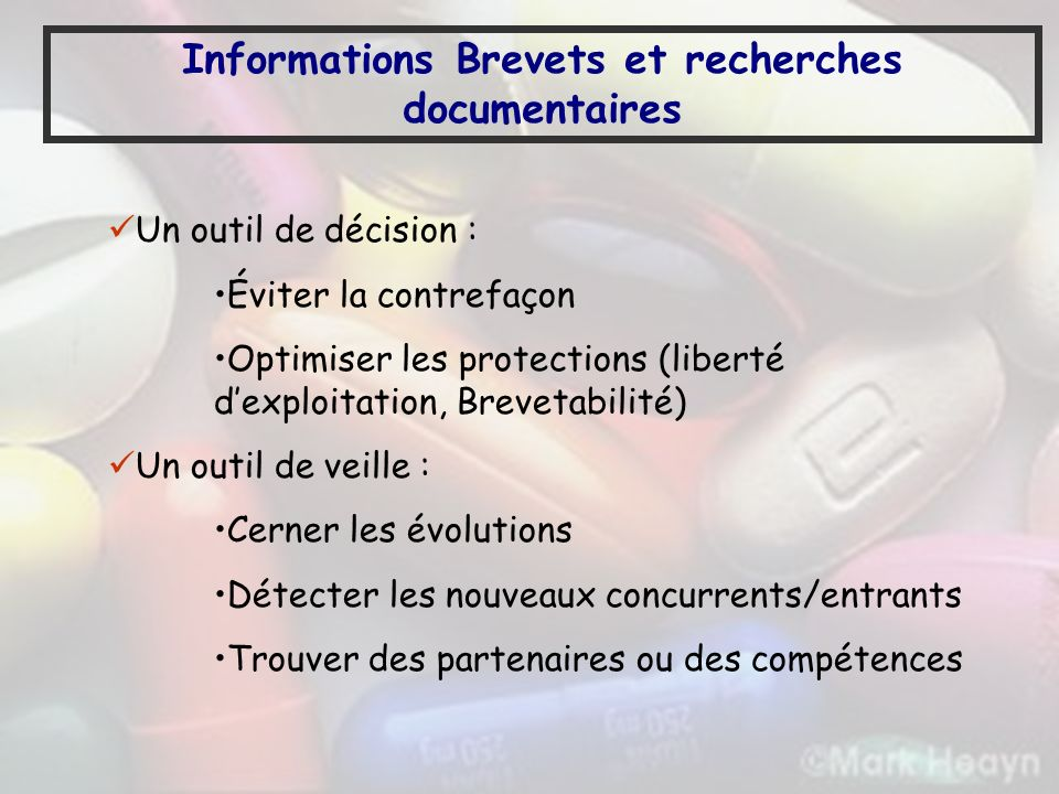 Informations Brevets et recherches documentaires