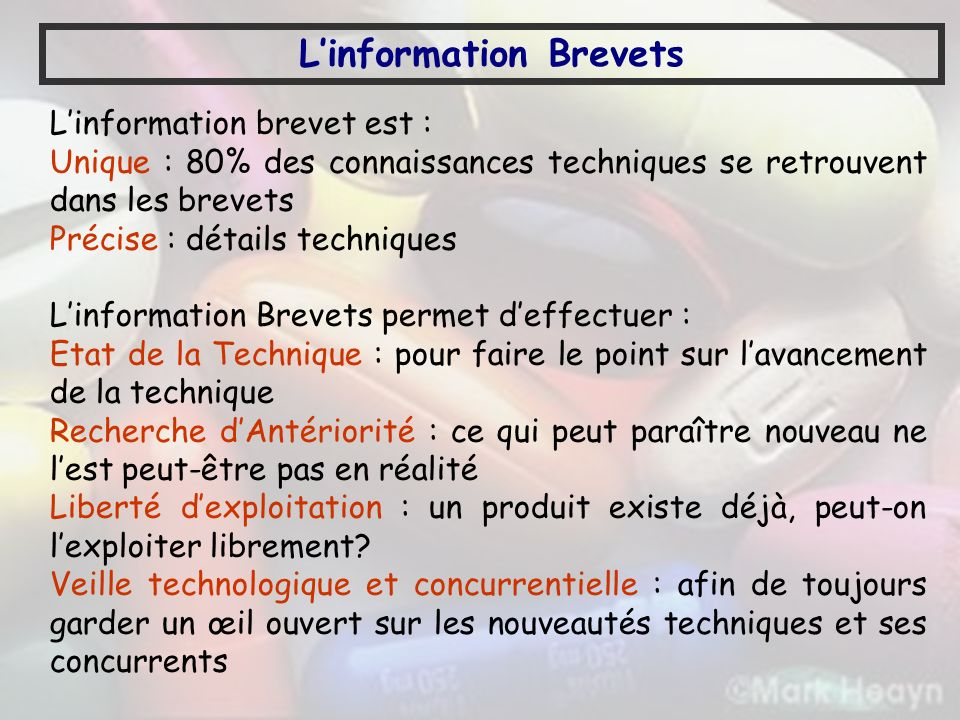 L'information Brevets