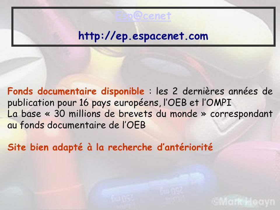 Esp@cenet http://ep.espacenet.com