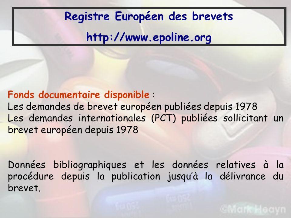 Registre Européen des brevets