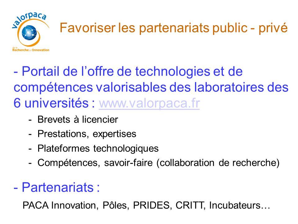 Favoriser les partenariats public - privé