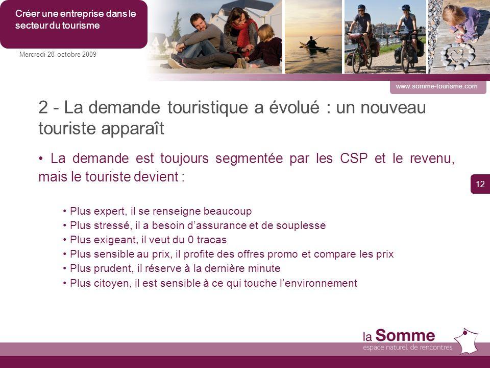 2 - La demande touristique a évolué : un nouveau touriste apparaît