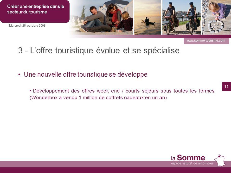 3 - L'offre touristique évolue et se spécialise