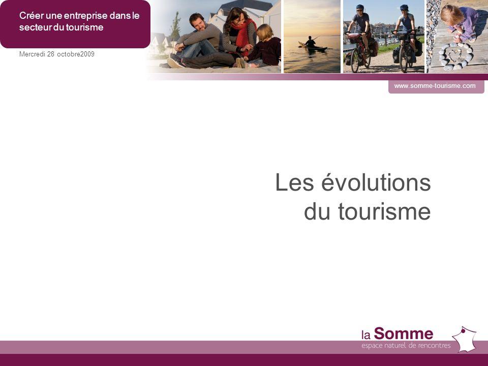 Les évolutions du tourisme