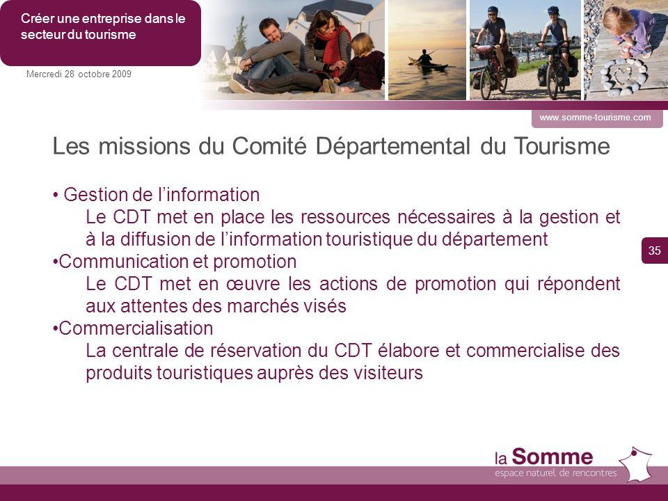 Les missions du Comité Départemental du Tourisme