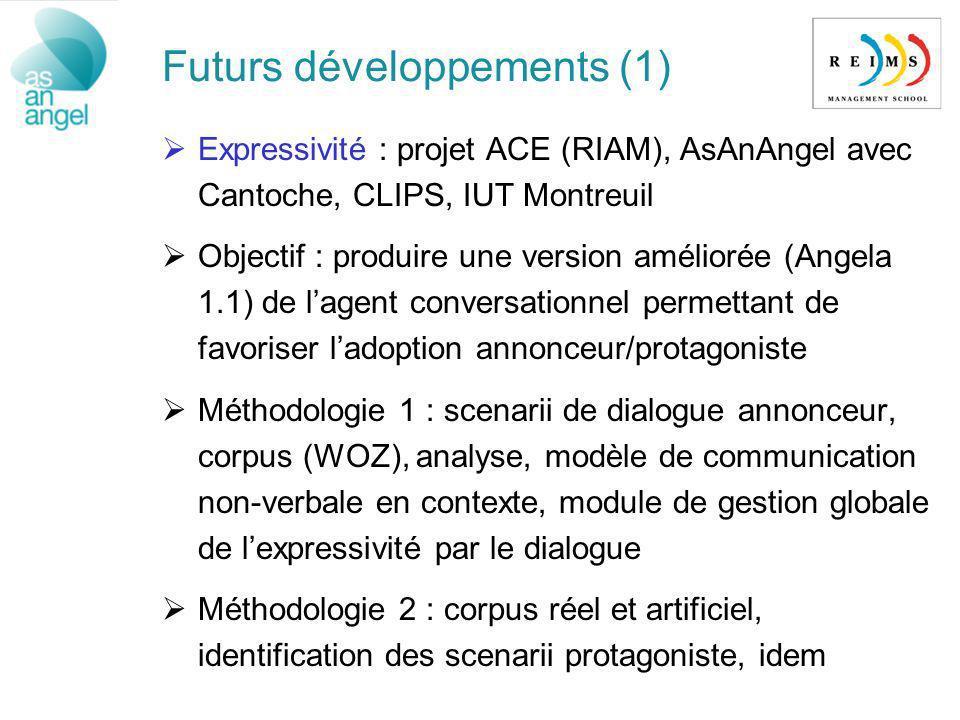 Futurs développements (1)