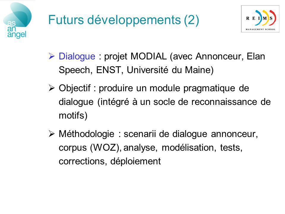 Futurs développements (2)
