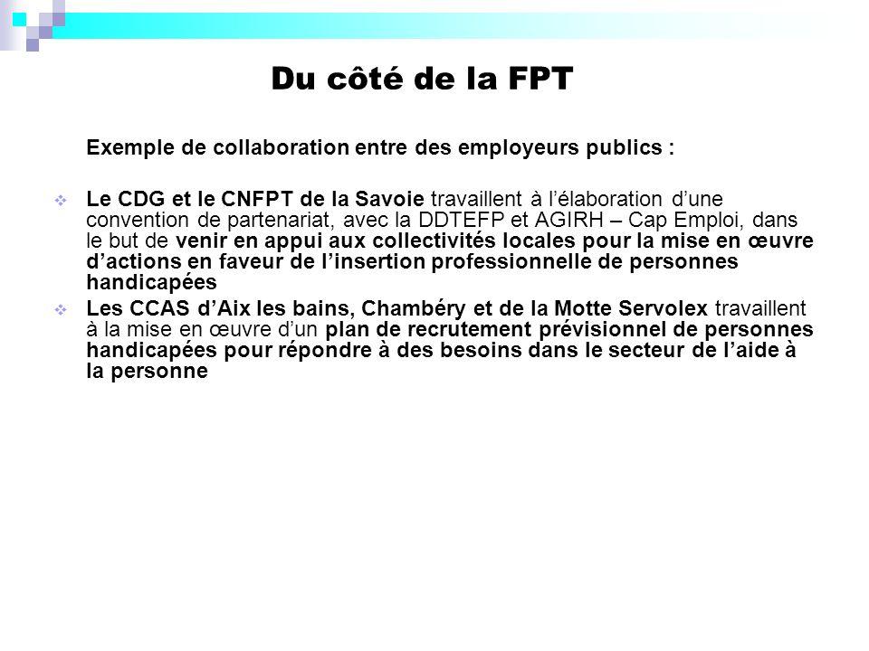 Du côté de la FPT Exemple de collaboration entre des employeurs publics :