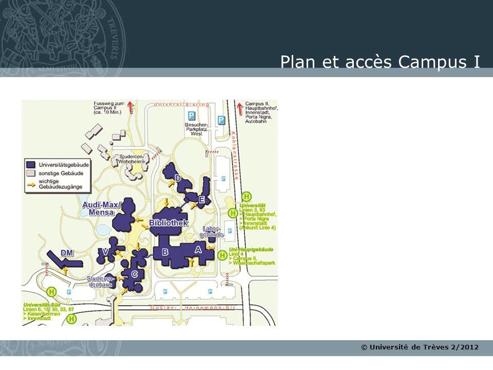 Plan et accès Campus I