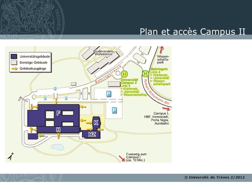 Plan et accès Campus II