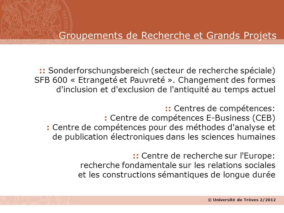 Groupements de Recherche et Grands Projets