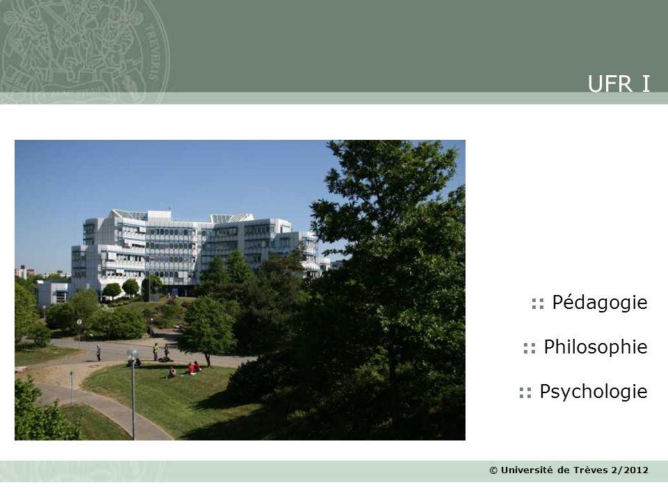 UFR I :: Pédagogie :: Philosophie :: Psychologie