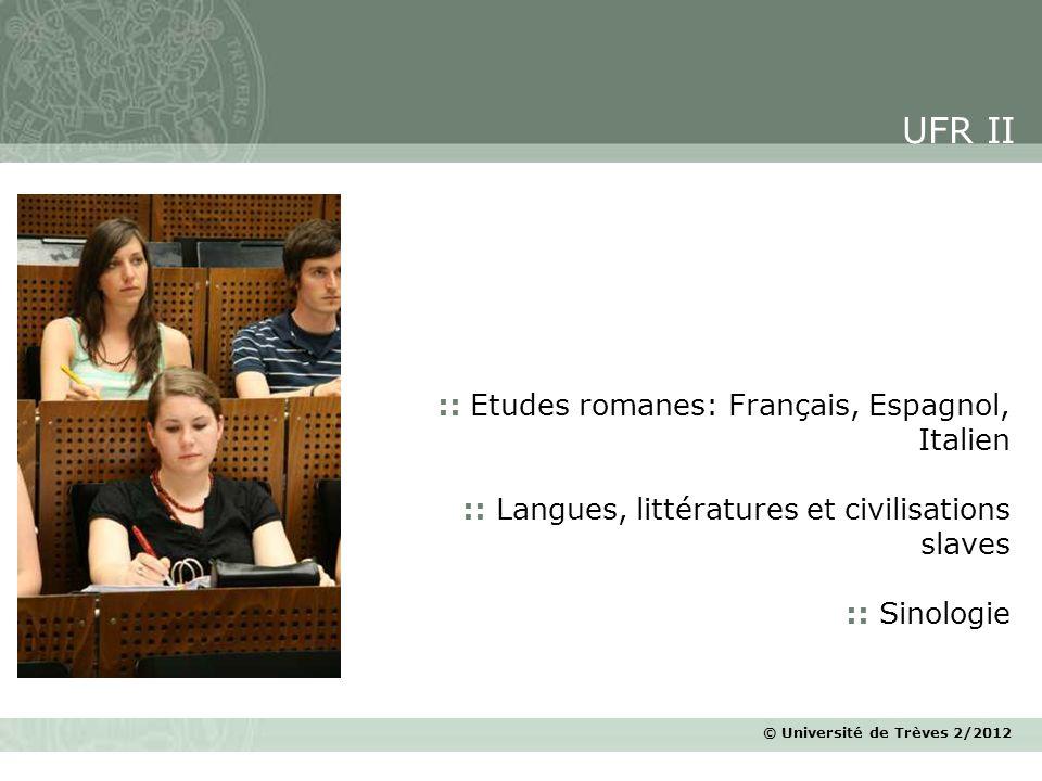 UFR II :: Etudes romanes: Français, Espagnol, Italien