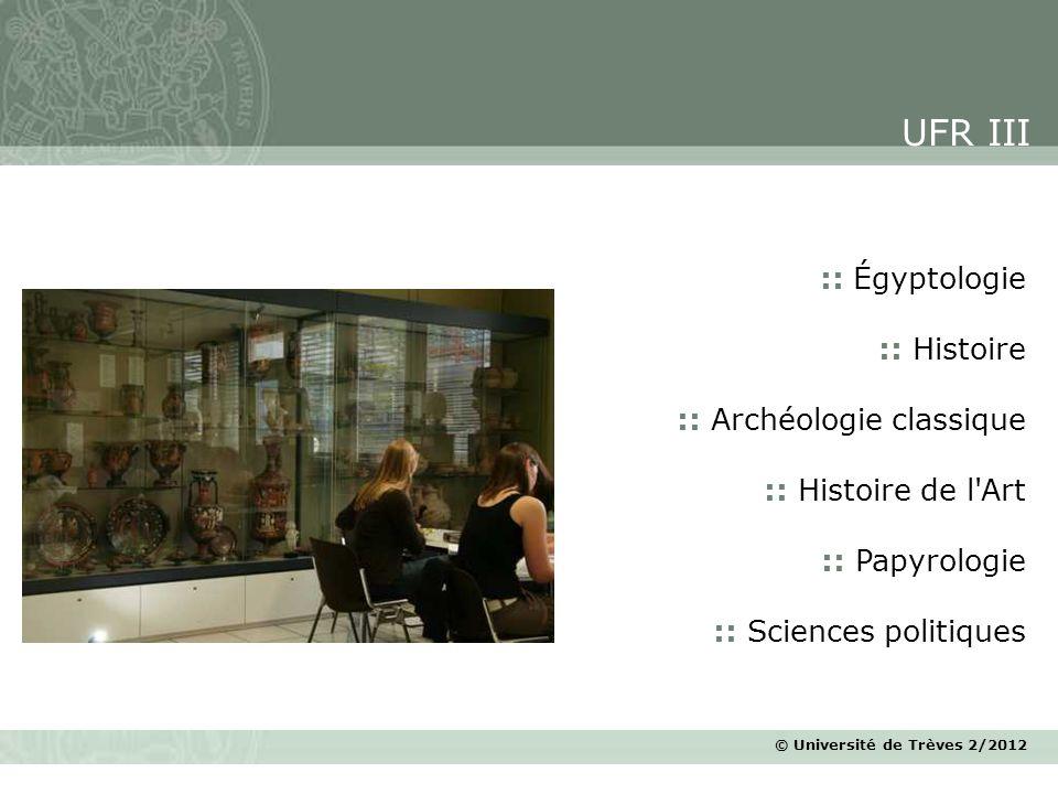 UFR III :: Égyptologie :: Histoire :: Archéologie classique