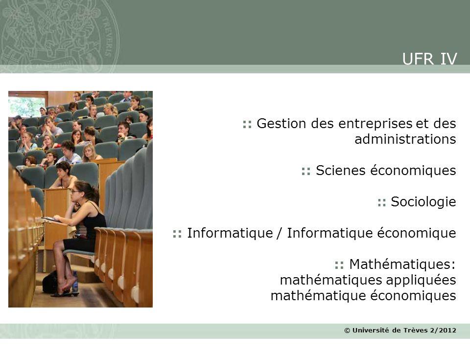 UFR IV :: Gestion des entreprises et des administrations