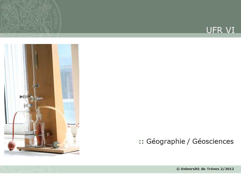UFR VI :: Géographie / Géosciences