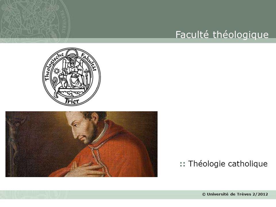 Faculté théologique :: Théologie catholique