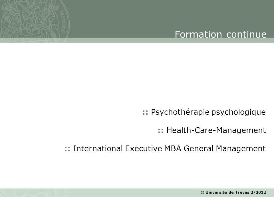 Formation continue :: Psychothérapie psychologique