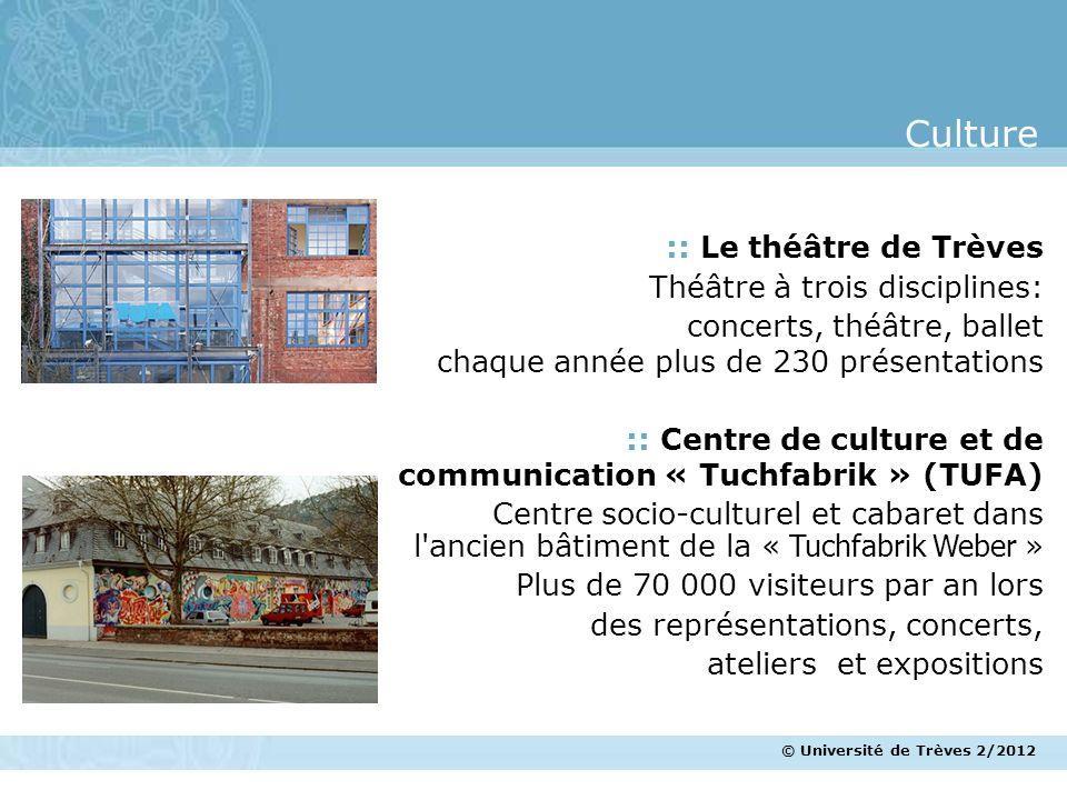 Culture :: Le théâtre de Trèves Théâtre à trois disciplines: