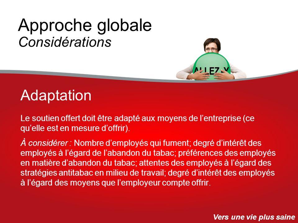 Approche globale Considérations