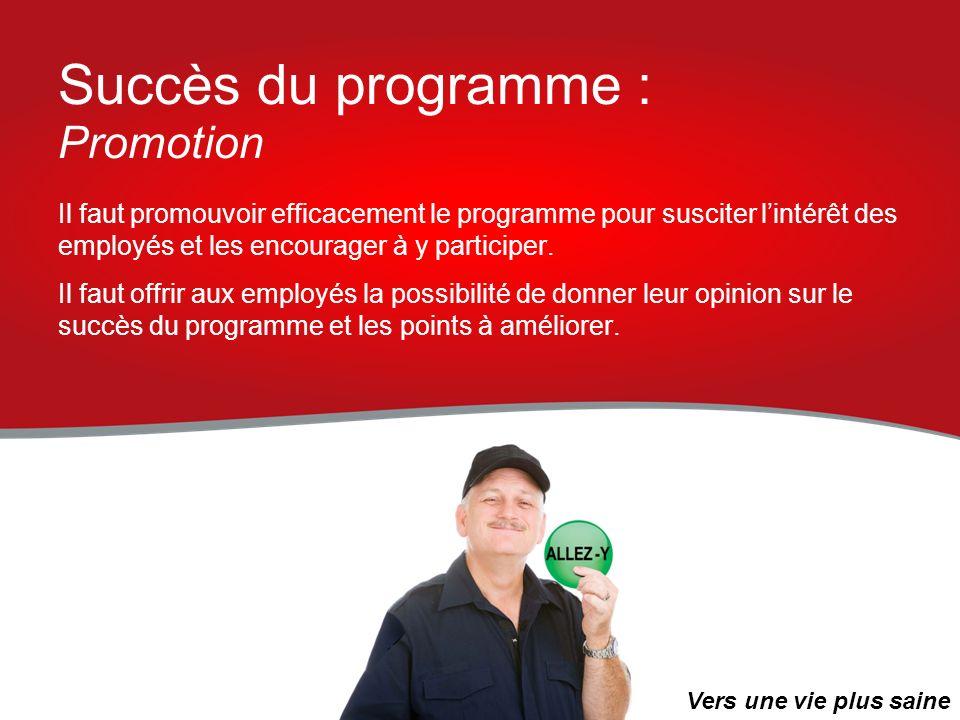 Succès du programme : Promotion