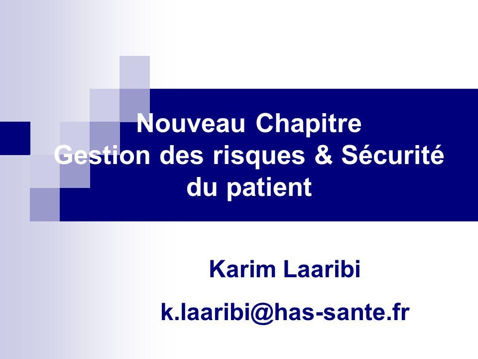 Gestion des risques & Sécurité du patient