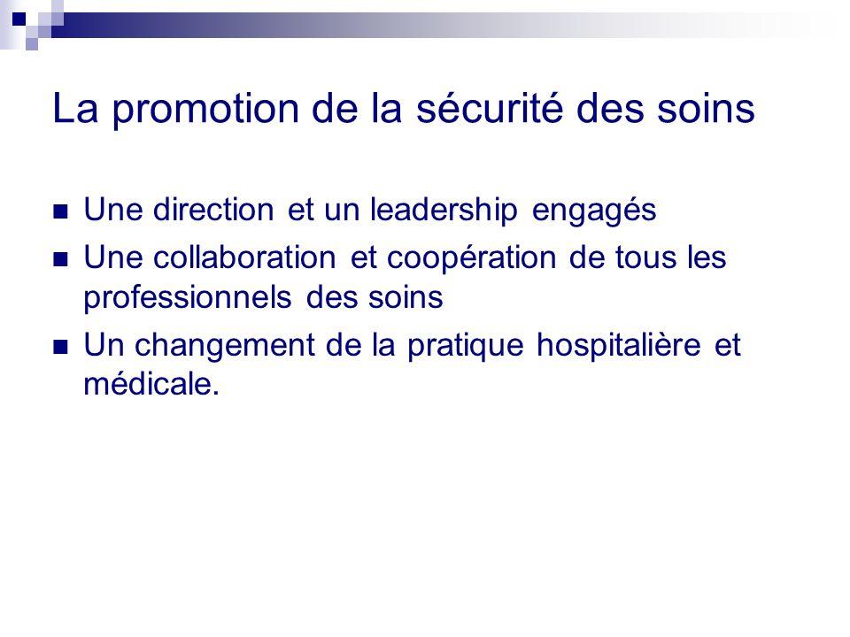 La promotion de la sécurité des soins