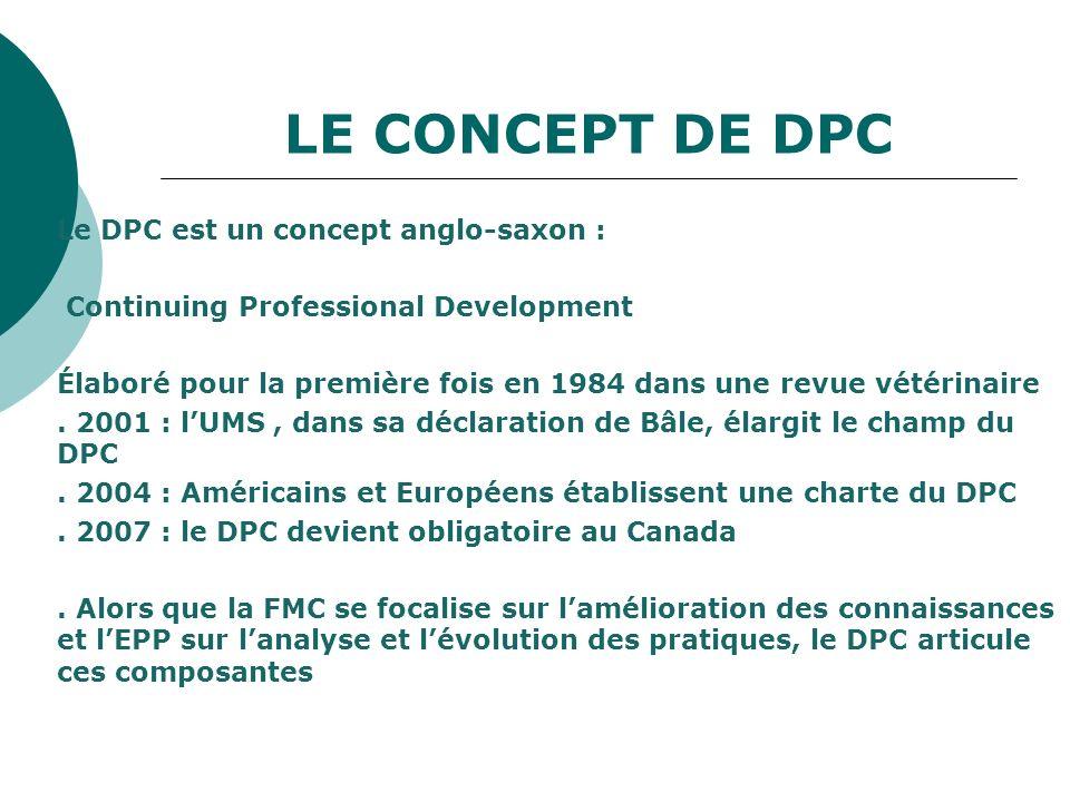 LE CONCEPT DE DPC