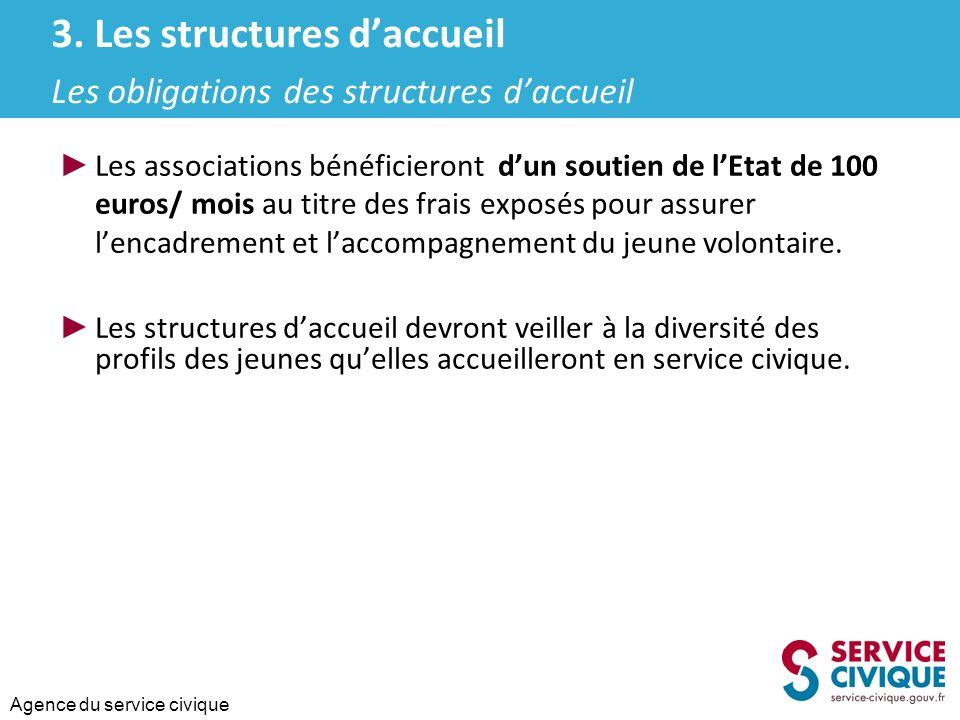3. Les structures d'accueil Les obligations des structures d'accueil