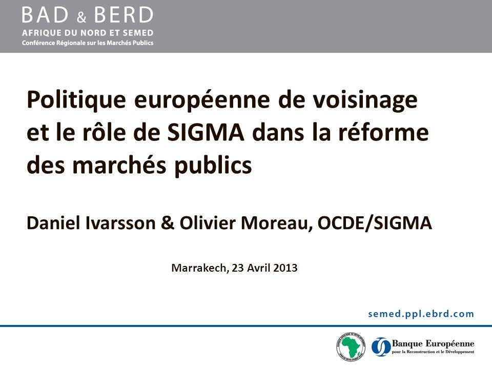 Daniel Ivarsson & Olivier Moreau, OCDE/SIGMA