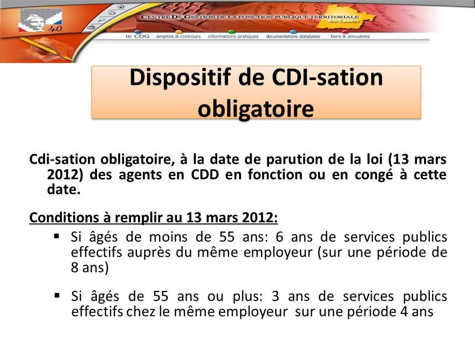 Dispositif de CDI-sation obligatoire