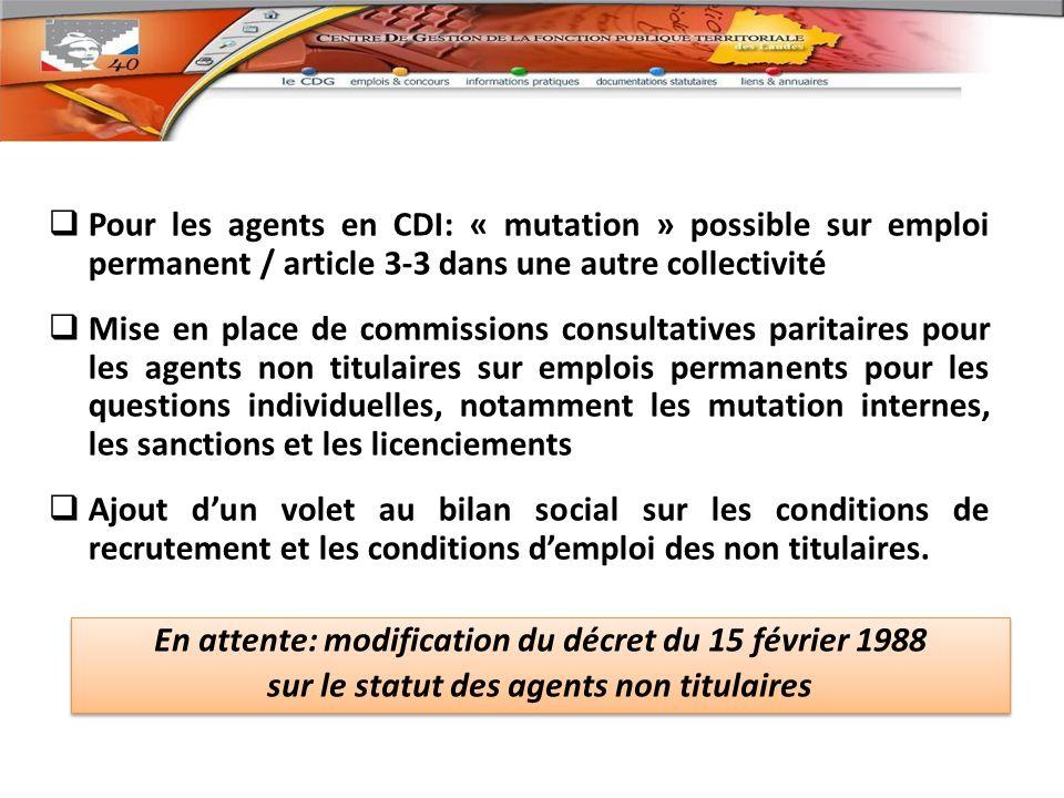 En attente: modification du décret du 15 février 1988