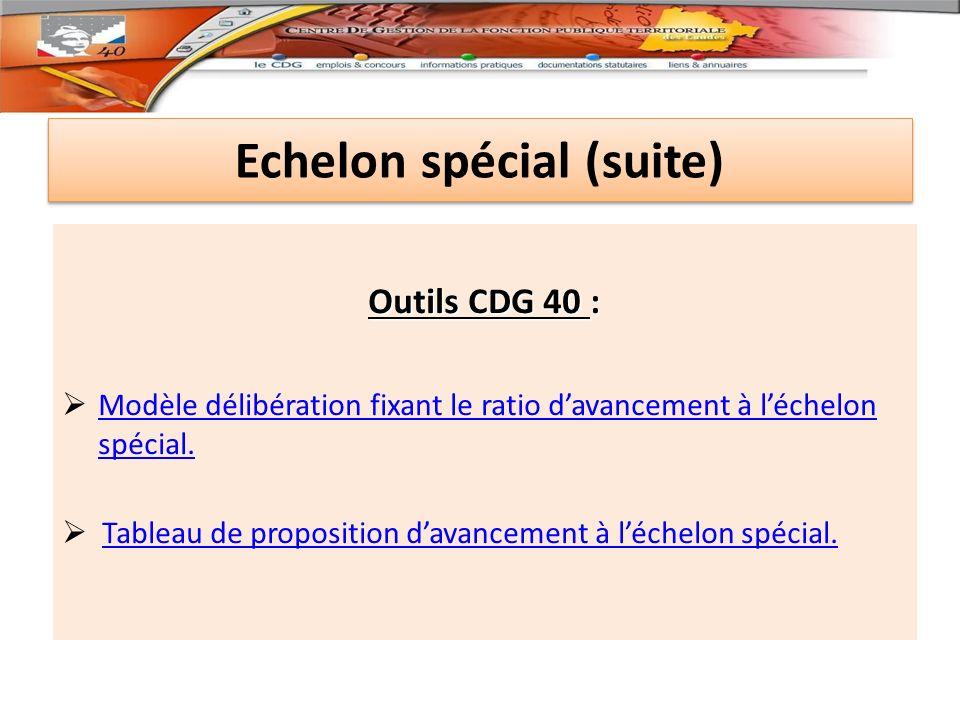 Echelon spécial (suite)