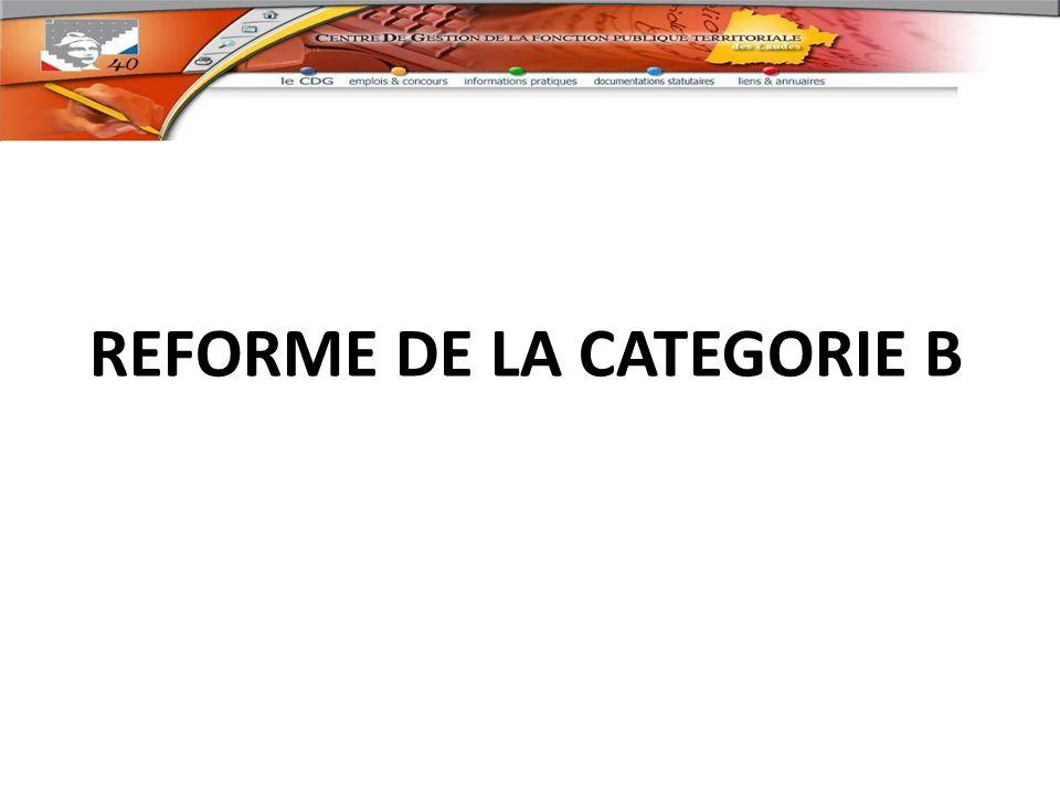 REFORME DE LA CATEGORIE B