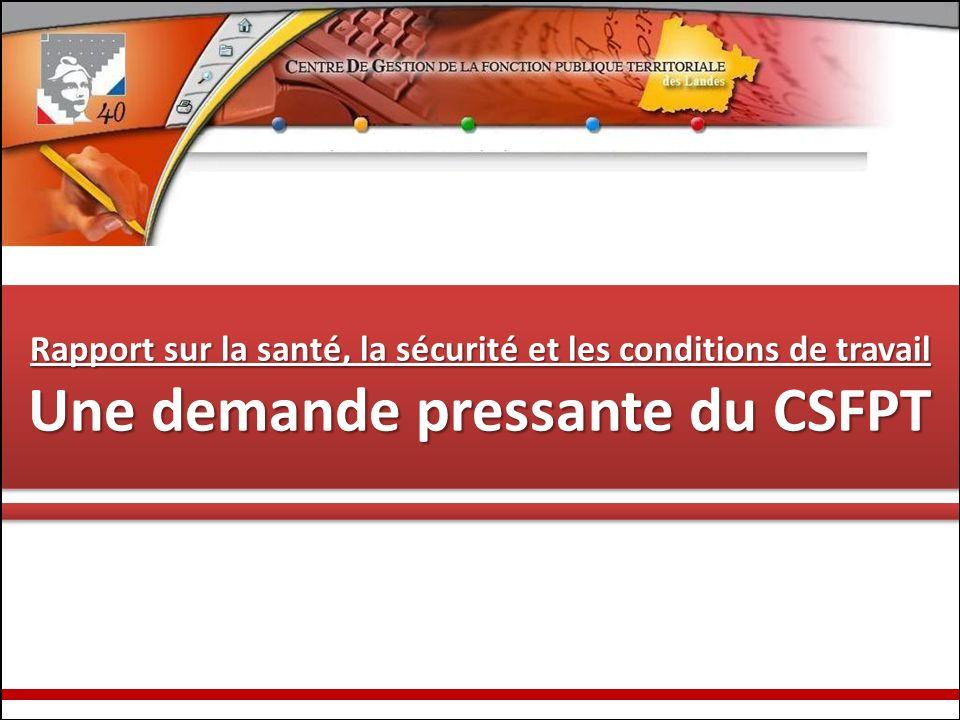 Une demande pressante du CSFPT